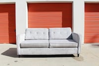 Modern Silver Tufted Sofa Couch Los Angeles, 90062