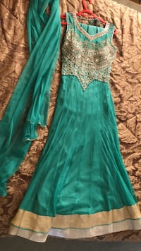Green dress Indian dress lehenga lengha gown for sale !