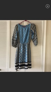Women's blue and black quarter-sleeved dress Herndon, 20171