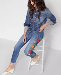 7 For All Mankind Womens Josefina In Merlot Rose Garden Embroidery 27 紐約, 11209