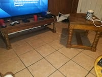 2 solid wood tables  Allentown