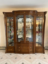 Buffet Display Cabinet glass chest marble