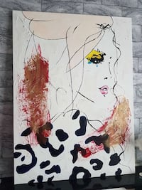 Crying Girl abstract painting Manchester, M12 5SZ