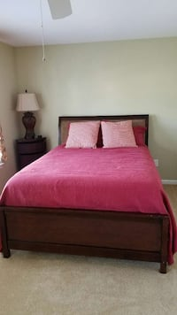 Double Sleigh bed with suede headboard  East Brunswick, 08816