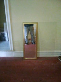 Mirror with glass