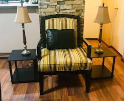 Gorgeous Accent Chair and Set of tables