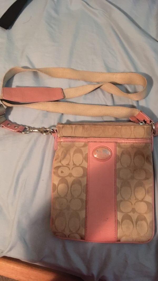 fe3836939786 Used brown and pink Coach sling bag for sale in West Allis - letgo