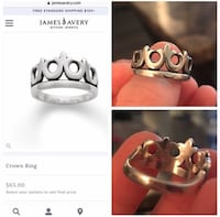 James Avery crown ring size 7 Waco, 76708
