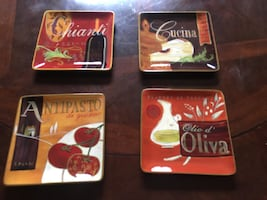 Italian Themed Lunch or Dinner Plates Set of 10