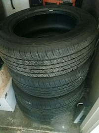 four black auto wheel with tires Watsonville, 95076