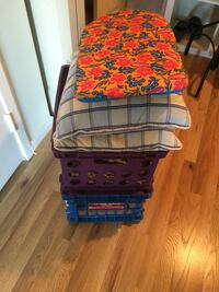 Pillows and storage bins