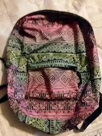 red and black tribal print backpack Owego, 13827
