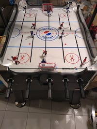 "SPORTCRAFT ROD HOCKEY TABLE with Electronic Scoreboard   Sound and scoreboard. Everything works except the one goal score sensor needs to be adjusted below..Simple LED..I will explain. 35"" wide x 45"" long, x 36"" high  Smoke free home.  VIEW MY OTHER ADS!! Toronto"