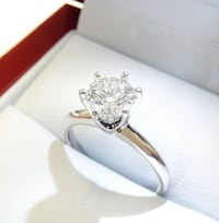 1.03ct 18K White Gold Diamond Engagement Ring Vancouver