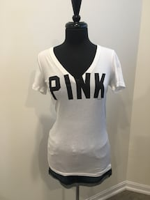 "New white ""PINK"" by VS shirt size small"