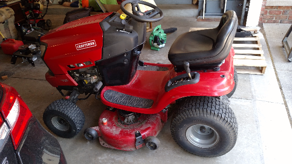 Craftsman Lawn Tractor Snowblower Attachment : Used craftsman hp riding mower with snow blower