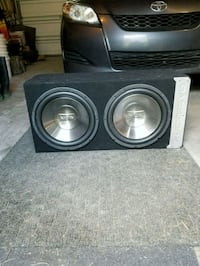 "Dual 12"" infinity reference subs Calgary, T2Z 4H9"