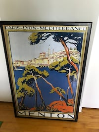 brown wooden framed painting of man Alexandria, 22308