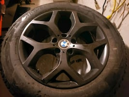 "18"" BMW rims with blizzaks"