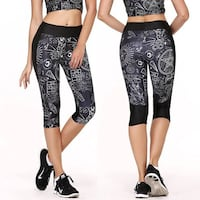 Thin Fashion Leggings black/white M Burnaby