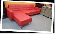 red and white sectional sofa Austin