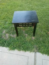 square black wooden side table Atwater, 95301