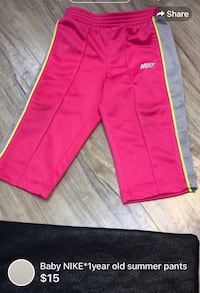 Baby NIKE*1year old summer pants London, N5W 1E8