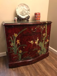 Lacquered Red Asian Cabinet Alexandria, 22309