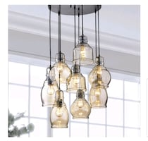 BRAND NEW Glass Cluster Pendant Chandelier