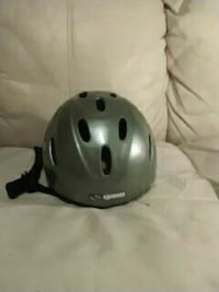 gray bike helmet