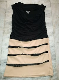 black and white cowl-neckline sleeveless dress Hyderabad