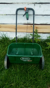 green and black Scotts seed spreader Columbus, 43228