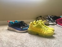 pair of green-and-black Nike running shoes Indianapolis, 46226