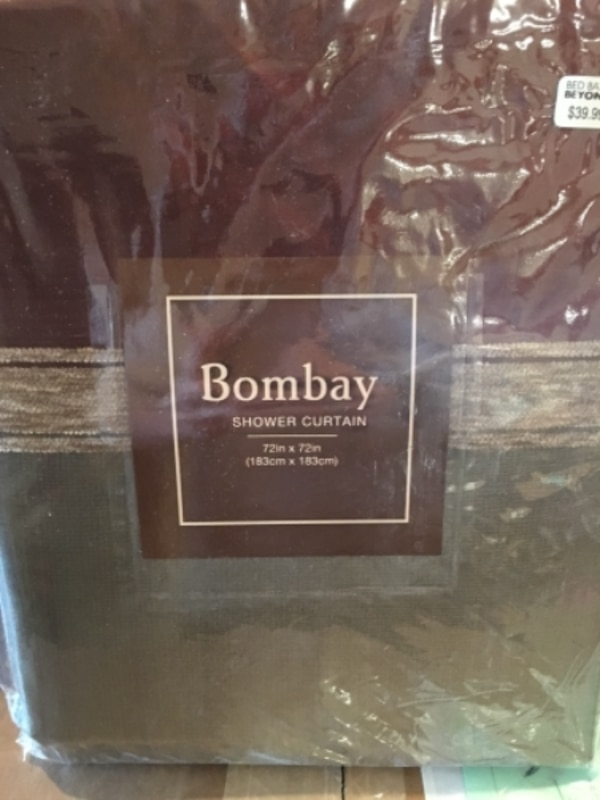 Used Brown Bombay Shower Curtain With Pack For Sale In DALLAS