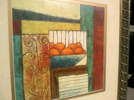 Print / Painting with fruit bowl and Orange's....