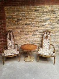 Weiman Products Antique high back chairs & table