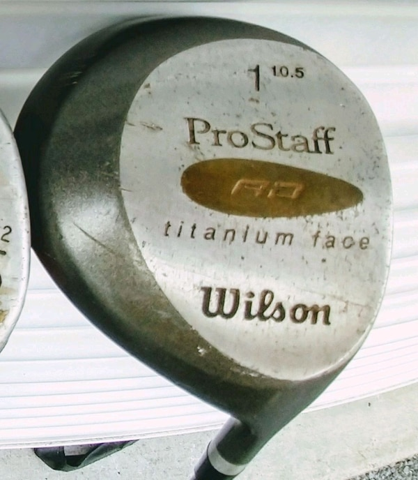 wilson prostaff golf club titanium face