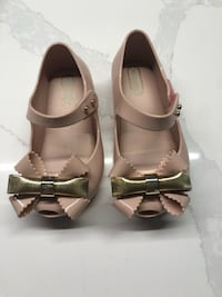 Mini Melissa Nude and Gold Shoes Size 7 and 8