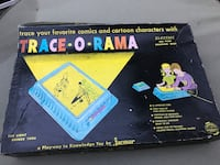 VINTAGE TRACE-O-RAMA DRAWING GAME IN ORIGINAL BOX WORKS Oakland, 07436