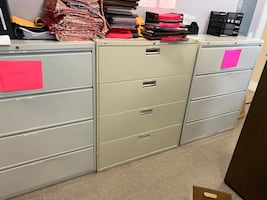 Large 4 Drawer Office File Cabinets