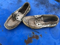 pair of brown leather boat shoes Gilmer, 75645