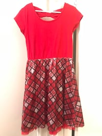Girls size 8 plaid dress with sequence  Pomona, 91767
