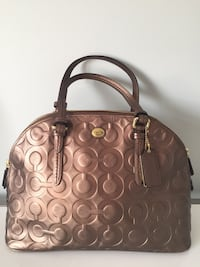 brown monogrammed Coach leather handbag Vaughan, L6A 0E6