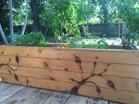 Custom wooden planter Fort Lauderdale, 33311