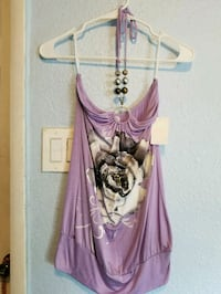 Purple and Grey Flower Tube Top Las Vegas, 89104