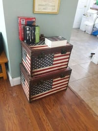 American Flag chests. $10 each