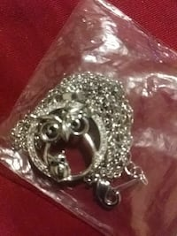 Sterling silver s925 owl chain