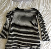 Free People b&w striped pull over!