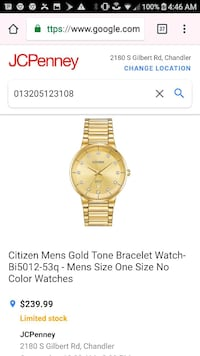 round gold Michael Kors chronograph watch with lin Tempe, 85283