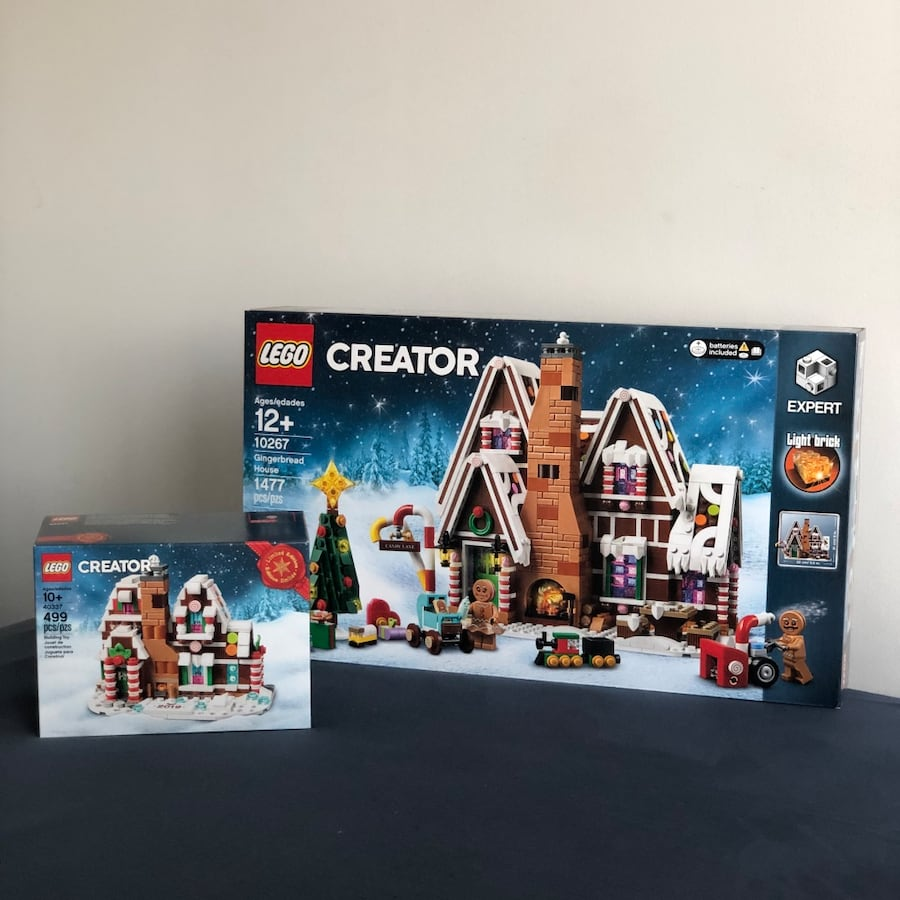 LEGO Gingerbread House and Mini Gingerbread House